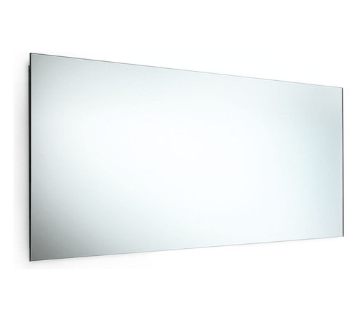 "WS Bath Collections - Speci 5656 Mirror with Stainless Steel Frame 39.4"" x 17.3"" - Speci 5656 Mirror with Stainless Steel Frame"