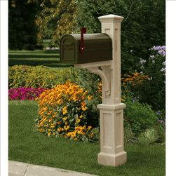Newport Plus Mailbox Post Clay -