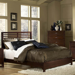 Woodbridge Home Designs - Paula II Slat Bed - Features: -Dovetailed drawer.-Refined European design in looks fabulous with its charming modern look.-Symmetrical slat design of the headboard.-Mirror plays together with coordinating case pieces to create a perfect harmony.-Constructed of New Zealand pine solids and veneers.-Paula II Collection.-Powder Coated Finish: No.-Gloss Finish: No.-Finish: Dark cherry.-Frame Material: Wood; Manufactured wood -Frame Material Details: Poplar and MDF..-Solid Wood Construction: No.-Upholstered: No.-Number of Items Included: 3.-Non Toxic: Yes.-Scratch Resistant: No.-Joinery Type: Groove.-Mattress Included: No.-Recommended Mattress Height: 8.-Headboard Storage: No.-Footboard Storage: No.-Underbed Storage: No.-Slats Required: Yes -Number of Slats Required: 3.-Slats Included: Yes..-Center Support Legs: Yes.-Adjustable Headboard Height: Yes.-Adjustable Footboard Height: No.-Wingback: No.-Trundle Bed Included: No.-Attached Nightstand: No.-Cable Management: No.-Built in Outlets: No.-Lighted Headboard: No.-Finished Back: No.-Reclaimed Wood: No.-Number of Center Support Legs: 2.-Distressed: No.-Bed Rails Included: Yes.-Collection: Paula II.-Eco-Friendly: Yes.-Recycled Content: Yes -Total Recycled Content (Percentage): 90%.-Post-Consumer Content (Percentage): 35%.-Remanufactured/Refurbished : No..-Wood Moldings: No.-Canopy Frame: No.-Hidden Storage: No.-Jewelry Compartment: No.-Weight Capacity: 550.-Swatch Available: No.-Commercial Use: No.Specifications: -FSC Certified: No.-EPP Compliant: Yes.-CPSIA or CPSC Compliant: No.-CARB Compliant: Yes.-JPMA Certified: No.-ASTM Certified: No.-ISTA 3A Certified: No.-PEFC Certified: No.-General Conformity Certificate: No.-Green Guard Certified: No.Dimensions: -Overall Height - Top to Bottom (Size: California King): 51.-Overall Height - Top to Bottom (Size: Full): 51.-Overall Height - Top to Bottom (Size: King): 51.-Overall Height - Top to Bottom (Size: Queen): 51.-Overall Height - Top to Bottom (Size: Twin): 51.-Overall Width - Side to Side (Size: California King): 76.-Overall Width - Side to Side (Size: Full): 58.-Overall Width - Side to Side (Size: King): 80.-Overall Width - Side to Side (Size: Queen): 64.-Overall Depth - Front to Back (Size: King): 84.-Overall Depth - Front to Back (Size: Queen): 84.-Overall Product Weight (Size: California King): 81.91.-Overall Product Weight (Size: Full): 66.41.-Overall Product Weight (Size: King): 89.65.-Overall Product Weight (Size: Queen): 74.15.-Overall Product Weight (Size: Twin): 49.725.-Headboard Dimensions Height (Size: California King): 51.-Headboard Dimensions Height (Size: Full): 51.-Headboard Dimensions Height (Size: King): 51.-Headboard Dimensions Height (Size: Queen): 51.-Headboard Dimensions Height (Size: Twin): 51.-Headboard Width Side to Side (Size: California King): 76.-Headboard Width Side to Side (Size: Full): 58.-Headboard Width Side to Side (Size: King): 80.-Headboard Width Side to Side (Size: Queen): 64.-Headboard Depth Front to Back (Size: California King): 4.-Headboard Depth Front to Back (Size: Full): 4.-Headboard Depth Front to Back (Size: King): 4.-Headboard Depth Front to Back (Size: Queen): 4.-Footboard Height (Size: California King): 13.-Footboard Height (Size: Full): 13.-Footboard Height (Size: King): 13