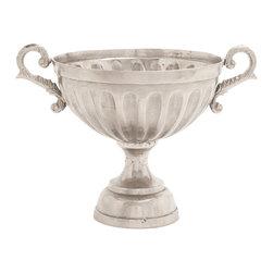 Amazing and Bold Aluminum Pedestal Bowl - Description: