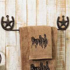 eclectic towel bars and hooks by Lone Star Western Decor