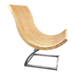 "Shiner - Shiner Armless Cup Chair, Steel, Ebony - Modern, eco-friendly furnishings made in Atlanta, Georgia. Our goal is to transform tons of landfill-destined materials into killer designs. By building pieces out of disposable elements, we refine the future by upcycling the past. Everything from the steel, hardwoods, and cardboard to our lexan and linen is diverted from the incinerator. We strive to make every piece knock-down for ease of shipping with less environmental impact. This piece is a carbon steel frame your choice of blackened or brushed steel with plywood in ebony stain or natural stain. The Cup Chair measures 28.5""Wx30""Dx33.25""H."