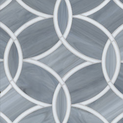Beau Monde Mosaic Glass Tile - One of my favorite patterns - exotic and elegant at the same time, and the gray is sophisticated and timeless.