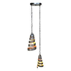 "Wine Country Craftsman - Corba - ""Binate"" - Pendant Light Double Wine Barrel Lights - Corba - ""Binate"" - Pendant Light Double Wine Barrel Lights - 100% Recycled"