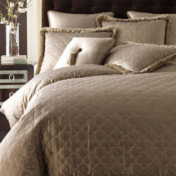 """Dian Austin Couture Home - Dian Austin Couture Home Quilted King Duvet Cover, 108"""" x 95"""" - Sophisticated slumber starts with bed linens of pure silk in your choice of three beautiful colors; choose below. Collection is made in the USA of imported fabrics by Dian Austin Couture Home®. Dry clean. Duvet covers are quilted with elegant embr..."""