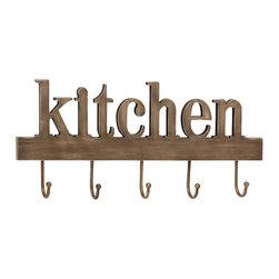 Multi-Purpose Wood Metal Kitchen Wall Hook - Description: