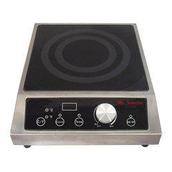 2700W Commercial Induction (Countertop) - You'll truly be top chef when you upgrade your restaurant or catering business to the best commercial induction equipment around. SmartScan® technology is virtually psychic, boasting voltage, pan size and pan type recognition, plus a tempered glass cooktop, choice of power or temperature mode and simple knob-set thermostat control.