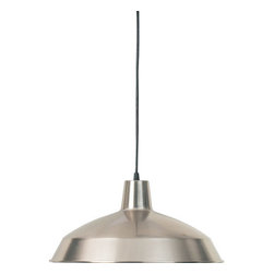 "Quorum International - Quorum International 6822-65 Satin Nickel Pendants Functional Single - Quorum International 6822 Pendant Light 6822 Features:  Down lighting Can be used as a track pendant using the 7309 track adapter Includes canopy Includes 10  of black cord  6822 Specifications:  Height: 8"" Width: 16"" Number of bulbs: 1 (not included) Bulb base: Medium Bulb type: Incandescent Canopy diameter: 8"""