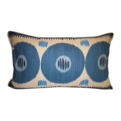 "Lee Jofa - Lee Jofa ""Emir"" Suzani Ikat pillow - Lee Jofa Emir"" Ikat Accent Lumbar Pillow"