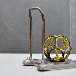 Modern50 - Dino Paxenos for Modernfifty.  USA, c.1960s. Vintage Industrial Aluminum Laboratory Cart. Fully Functional, Smooth Rolling. Cast Aluminum Construction. Time Worn Patina.