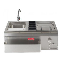 "Bull BBQ - Bull Outdoor 30"" Bar Center with Sink - 304 Grade 16 Gauge Stainless Steel Construction"