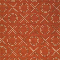 "Jaipur - Indoor/Outdoor Grant I-O 3'6""x5'6"" Rectangle Terracotta Area Rug - The Grant I-O area rug Collection offers an affordable assortment of Indoor/Outdoor stylings. Grant I-O features a blend of natural Terracotta color. Hand Hooked of 100% Polypropylene the Grant I-O Collection is an intriguing compliment to any decor."