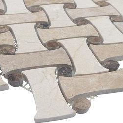 SAMPLE-FILIGREE MAIZE MARBLE TILE, 1/4 SHEET SAMPLE -