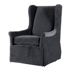 Weston Wing Chair - Jayson Home - In my opinion, the sign of a good chair is how well it would it would hold up over a long day of reading. I imagine this armchair would pass that test with flying colors, thanks to a high back with wings to rest your head and comfortable down and feather cushions.