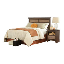 Standard Furniture - Standard Furniture Weatherly 4-Piece Headboard Bedroom Set - Weatherly bedroom has warm appealing character with its textured two-tone finish and versatile transitional styling, plus it has the smart advantage of a space conscious footprint.