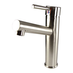 Fresca - Fresca Savio Single Hole Mount Bathroom Vanity Faucet - Brushed Nickel - This single hole faucet is made from heavy duty brass with a brushed nickel finish.  Features ceramic mixing valve for longevity and watertight functionality.