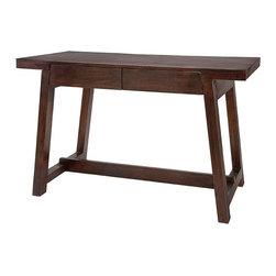 "Imax - Hayden Walnut Wood Desk - *Dimensions: 29.5""h x 47""w x 24"""