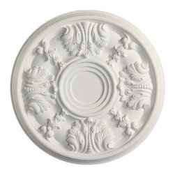 uDecor - MD-5461 Ceiling Medallion - Ceiling medallions and domes are manufactured with a dense architectural polyurethane compound (not Styrofoam) that allows it to be semi-flexible and 100% waterproof. This material is delivered pre-primed for paint. It is installed with architectural adhesive and/or finish nails. It can also be finished with caulk, spackle and your choice of paint, just like wood or MDF. A major advantage of polyurethane is that it will not expand, constrict or warp over time with changes in temperature or humidity. It's safe to install in rooms with the presence of moisture like bathrooms and kitchens. This product will not encourage the growth of mold or mildew, and it will never rot.