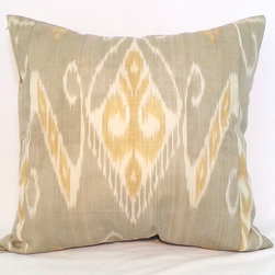 ikat pillow covers, ikat, ikat cushion, yellow ikat, blue ikat, red ikat, ikat - ikat pillow cover