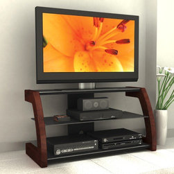 """dCOR design - Amara 44"""" TV Stand - Features: -TV Size Accommodated: Accomodates up to 55"""" TV.-Finish: Rich midnight black lacquer.-Powder Coated Finish: No.-Gloss Finish: No.-Material: Metal & engineered wood.-Number of Items Included: 1.-Solid Wood Construction: No.-Distressed: No.-Exterior Shelves: Yes -Number of Exterior Shelves: 2.-Adjustable Exterior Shelves: No..-Drawers: No.-Cabinets: Yes.-Scratch Resistant: No.-Ventilation Features: Yes.-Casters: No.-Accommodates Fireplace: No.-Fireplace Included: No.-Lighted: No.-Media Storage: Yes.-Cable Management: Yes.-Remote Control Included: No.-Batteries Required: No.-Weight Capacity: 150 lbs maximim TV weight.-Swatch Available: Yes.-Commercial Use: No.-Recycled Content: No.-Lift Mechanism: No.-Expandable: No.-TV Swivel Base: No.-Integrated Flat Screen Mount: Yes.-Hardware Material: Metal.-Non-Toxic: No.-Country of Manufacture: Canada.Specifications: -ISTA 3A Certified: No.-CARB 2 Certified: Yes.-CARB Certified: Yes.-FSC Certified: No.-General Conformity Certified: No.-CSA Certified: No.-EPP Certified: No.Dimensions: -Overall Height - Top to Bottom: 47.5"""".-Overall Width - Side to Side: 44"""".-Overall Depth - Front to Back: 22.25"""".-Shelving: -Shelf Height - Top to Bottom (Middle) : 9.25"""".-Shelf Height - Top to Bottom (Bottom) : 10.25"""".-Shelf Width - Side to Side: 41"""".-Shelf Depth - Front to Back (Middle) : 17"""".-Shelf Depth - Front to Back (Bottom) : 19""""..-Overall Product Weight: 116 lbs.Assembly: -Assembly Required: Yes.-Tools Needed: Screwdriver.-Additional Parts Required: No.Warranty: -Product Warranty: 1 year warranty."""