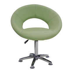 Whiteline Imports - Whiteline Imports Orlando Chair in Green Leatherette [Set of 2] - Chair in green leatherette belongs to Orlando collection by Whiteline