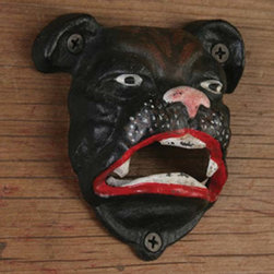 Bulldog Bottle Opener - This hand painted cast iron Bulldog Bottle Opener not only removes bottle caps it makes a great gift and a fun conversation piece.