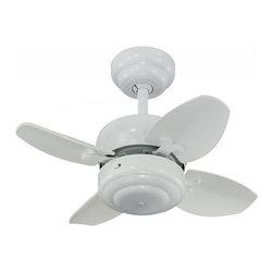 Joshua Marshal - 20-Inch 4-Blade Mini Ceiling Fan, White - 20-Inch 4-Blade Mini Ceiling Fan, White