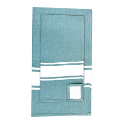 BrandWave - Hand Fouta, Teal - Combining two traditions, we took our inspiration from a combination of traditional Turkish bath sheets, and a standard Western terry bath towel. Turkish bath sheets are flat-woven and traditionally used in bathhouses. The combination of the highly absorbent fouta and the traditional Western terry makes this fouta hand towel, in colors you recognize, familiar enough for you to use on an everyday basis.