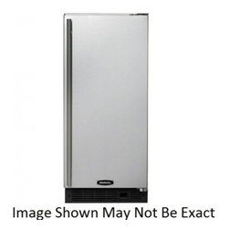 "Marvel - 30IMTSSFRP 15"" Ice Maker With Auto Defrost  Stainless Steel Ice Cutter  30lbs Of - The Marvel makes up to 35 pounds of crystal clear restaurant-quality ice a day Dressed in 304 stainless steel its elegant monochromatic stainless steel cabinetry not only looks beautiful but provides functional protection against the elements In fact..."