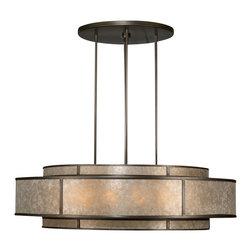 Fine Art Lamps - Fine Art Lamps 600140ST Singapore Moderne Patinated Bronze Pendant - 12 Bulbs, Bulb Type: 60 Watt Candelabra; Weight: 95lbs