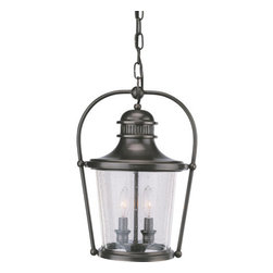 Troy Lighting - Troy Lighting F2037 Guild Hall 2 Light Outdoor Lantern Pendant - Troy Lighting F2037 Traditional / Classic Two Light Outdoor Pendant from the Guild Hall CollectionBeing a Leader in an Industry requires many attributes. Troy Lighting's passion for quality, design, value and service lead the way. Their Team of Lighting Professionals are serious about producing awesome lighting and having a strong, well-run company.  Hand-Forged Iron, Hand Applied Finishes, Glass and Shades that compliment the style are primary ingredients in Troy Lighting products. They take great pride in their engineering and inspection standards that  ensure a quality product. Troy Lighting is committed to providing quality high styled products, at reasonable prices, backed with the highest standard of service.Features: