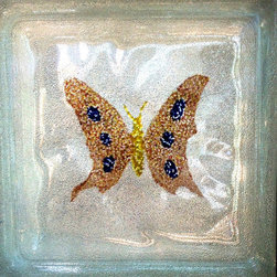 Butterflies - decor,design,art,artglass,glassblocks,colours,decorglassblocks,painting,homedecor