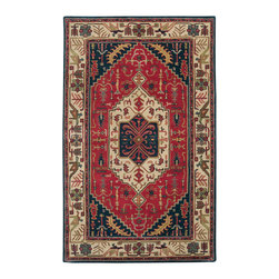 Surya - Surya Ancient Treasures A-134, Red, Beige, 8' Round Rug - Crafted with uncommon quality, this exquisite collection features a series of traditional Persian designs capturing the essence of ancient traditions and majesty. The rugs are made from 100% semi-worsted new Zealand wool offering a thick, dense pile with a super-luxurious hand and fine finish to recreate an authentic hand-knotted appearance. The unique luster and antique finish on these rugs is achieved through special washing techniques. This extraordinary combination of design, color and styling will add a wonderful accent to any setting.