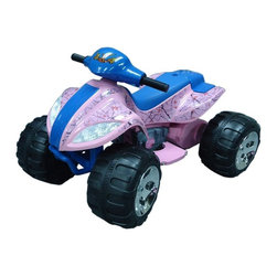 Fun Wheels - Fun Wheels True Timber Camo Max Quad Battery Powered Riding Toy - Pink - 03CMG - Shop for Tricycles and Riding Toys from Hayneedle.com! They'll love to go for a ride on the Fun Wheels True Timber Camo Max Quad Battery Powered Riding Toy Pink. This little ATV has real pedal acceleration up to 2 mph a working horn and headlights and big sturdy wheels. Powered by a rechargeable 12-volt battery. Playtime: 1-2 hours.