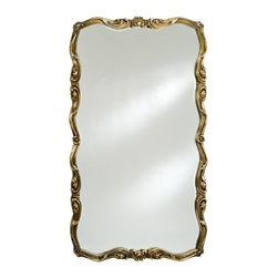 Afina - Timeless Tradition Oversized Full Length Wall Mirror - 36W x 60H in. - TT-129-SV - Shop for Bathroom Mirrors from Hayneedle.com! Create space while adding an illuminating reflection upon any room with the Timeless Tradition Oversized Wall / Leaning Floor Mirror. This ornate rectangular mirror offers a generous size and is designed to be hung either vertically or horizontally on larger walls. For smaller spaces it works perfectly as a floor leaning mirror that opens up any room. It features a beveled edge mirror and an ornately embellished wood frame in your choice of antique white antique gold or antique silver finishes.About AfinaAfina Corporation is a manufacturer and importer of fine bath cabinetry lighting fixtures and decorative wall mirrors. Afina products are available in an extensive palette of colors and decorative styles to reflect the trends of a new millennium. Based in Paterson N.J. Afina is committed to providing fine products that will be an integral part of your unique bath environment.