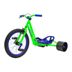 Triad - Triad Notorious Drift Tricycle - 71032 - Shop for Tricycles and Riding Toys from Hayneedle.com! If you re going to become notorious for anything in your neighborhood let it be your laid-back late-afternoon weekend rides on the Triad Notorious Drift Tricycle. Designed ergonomically for professional drift trike riders this tricycle boasts smooth back wheels indicative of drift trikes as well as a triple-down tube in front that withstands vibration and shock. It s got a lightweight 6061 alloy frame available in several colorways - you choose a gray frame with red trim or a green frame with blue trim - and a high-tensile steel rear 36-spoke alloy BMX rim and 89mm alloy cranks and hub. Suggested for ages 12 and older; 220 lb. weight capacity.