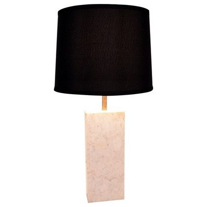 Table Lamps White Marble rectangle base lamp