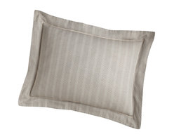 Peacock Alley - Corsica Sham,, Linen, Euro - Isn't it time you slept in style? Consider this simply elegant pillow sham — a subtle herringbone design woven into sumptuous, 100 percent Egyptian cotton.