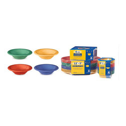 Get Melamine - 4.5 oz 4.75x1.25 Bowl Mix Pack of 4 Retail Packaging /Case of 48 - Descriptions: 4.5 oz. /5 oz. Rim Full/ 4.75 inch Bowl 1.25 inch Deep. Special Packaging