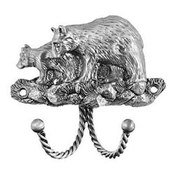 Sierra Lifestyles Decorative Hook - Black Bear - Pewter - Get Idea About Sierra Lifestyles Decorative Hook - Black Bear - Pewter, Sierra Lifestyles  Cabinet Hardware, Cabinet  Knobs, Cabinet Pulls , Switch plates, Rustic cabinet hardware, Double Hook, Hook, Decorative Hook, Knobs, Pulls and Decorative Hardware Accessories