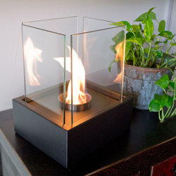 """Bluworld - Nu-Flame Tabletop Lampada Ethanol Fireplace - """"""""""""Lampada"""""""" Italian for lamp light is one of our newest tabletop fireplaces. Lampada is the perfect centerpiece or gathering point for friends and family. A beautiful way to add luxury and warmth making it the perfect gift to give or receive!"""