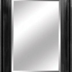 YOSEMITE HOME DECOR - Black Framed Mirror - Mirror with Sleek High-gloss Black Finish Wood Frame