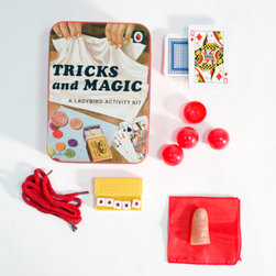 Tricks & Magic Kit - Kids love magic. Whether tricking their parents or tricking each other, hiding mysteries of the universe is terribly appealing.