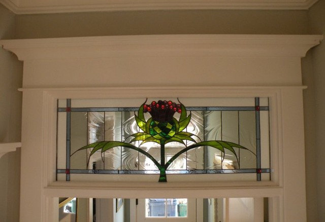 Traditional Home Decor Stained glass cabinets