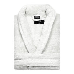 Kassatex - Kassatex KassaSoft Bathrobe, White - After a hard day, wouldn't it be great to come home to a hot bath and this gorgeous bathrobe? It's made of soft, absorbent Supima cotton and comes in your choice of four colors to match your bathroom, your bedroom or your mood.