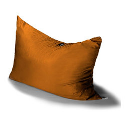 Jaxx Bean Bags - Jaxx Pillow Saxx 3.5' Kids Bean Bag, Mandarin - Pillow Saxx Jr. is the little sibling to our six foot adult-sized Pillow Saxx. This floor pillow is perfect for active kid who needs a platform for playing games, watching TV, or just hanging out. The Pillow Saxx Jr. molds around them to suit their activities. Lying flat, it works as a crash pad and on its side or up against the wall it provides the perfect platform for reading and relaxing. Plus the cover is removable and washable, so you never have to worry about crumbs or dirt.