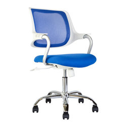 Laura Davidson - Laura Davidson Trendsetter Task Chair, Blue - If your office chair is stuck in the 90's, jump to the future with the Trendsetter Task Chair from Laura Davidson! With it's sleek, futuristic design combined with ergonomic comfort - your new chair will be sure to please your eyes and body. With design influences from the Steelcase QiVi chair at a quarter of the price, the Trendsetter Task Chair will make a dramatic statement in your home or office.