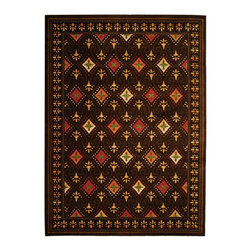 "Safavieh - Porcello Black/Multi Area Rug PRL2709B - 7'10"" x 11' - Fun colors and fetching flower-petal floral designs give this rug a creative style that's sure to bring life to any room. Soft polypropylene fibers provide a dense pile, designed to withstand high-traffic living rooms, dining spaces and hallways."
