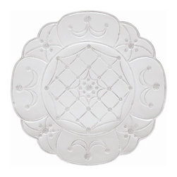 "Juliska - Juliska Jardins du Monde Villandry Wall Medallion Whitewash - Juliska Jardins du Monde Villandry Wall Medallion Whitewash.Lavish detailing and majestic shapes herald Jardins du Monde collection, which pays homage to four of the world's most beautiful gardens - Landriana in Italy, Villandry in France, Alcazar in Spain, and Heligan in England. Evocative of the splendor of these idyllic settings, the collection can stand magnificently alone or serve to add a dash of grandeur to classic Berry and Thread collection. Evocative of time-worn statues, pebble pathways, and lilies, Whitewash. is eternally elegant. Dimensions: 18"" W"