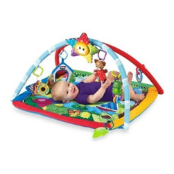 Baby Einstein - Baby Einstein Caterpillar and Friends Play Gym - This soft play mat features classical music, dancing lights and six activities so baby will be engaged for hours of play. The star-shaped electronic toy has baby motion activated lights and eight classical melodies.